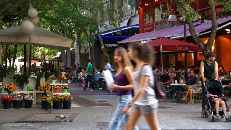 Street life in Kolonaki neighbourhood in Athens