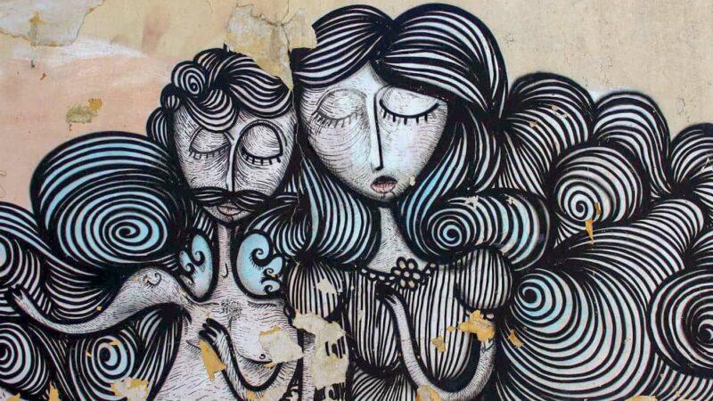 Street Art in Psirri neighbourhood in Athens